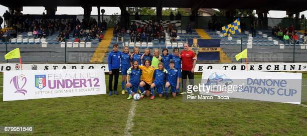 Brixen OBI Team Women Under 12 poses during Danone Nations Cup 2017 on May 7 2017 in Zevio Italy