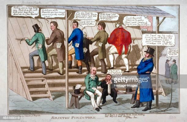 'Brixton purgatory' 1822 Prisoners Theodore Hook William Cobbett Henry Hunt and Thomas Wooler on the treadmill at Brixton Prison