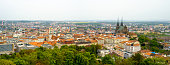 Brno day time old city landscape from Spilberk Castle