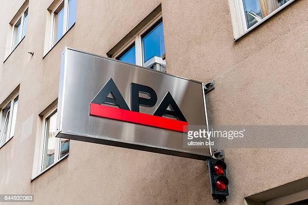 Büro und Logo der APA Austrian Presse Agentur in Wioen