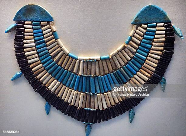 Broad collar of faience beads from Deir elBahri Dated 2000 BC