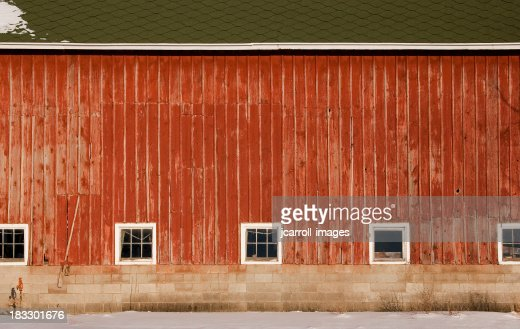 Broad side of an old barn