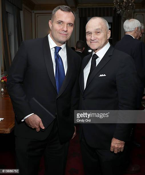 Broadcast Journalist Greg Kelly and former NYC Police Commissioner Ray Kelly attend the National Committee On American Foreign Policy 2016 Gala...