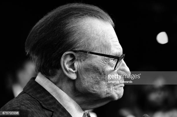 Broadcast journalist Larry King arrives at his 60th Broadcasting Anniversary Event at HYDE Sunset Kitchen Cocktails on May 1 2017 in West Hollywood...