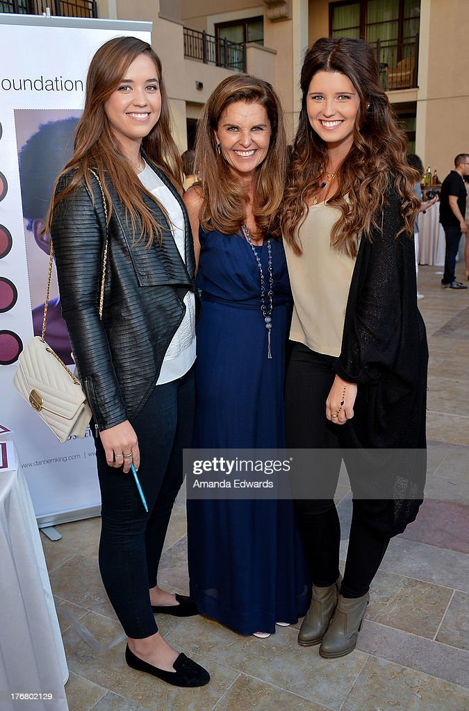 Broadcast journalist <a gi-track='captionPersonalityLinkClicked' href=/galleries/search?phrase=Maria+Shriver&family=editorial&specificpeople=179436 ng-click='$event.stopPropagation()'>Maria Shriver</a> (C) and her daughters <a gi-track='captionPersonalityLinkClicked' href=/galleries/search?phrase=Christina+Schwarzenegger&family=editorial&specificpeople=2376124 ng-click='$event.stopPropagation()'>Christina Schwarzenegger</a> (L) and <a gi-track='captionPersonalityLinkClicked' href=/galleries/search?phrase=Katherine+Schwarzenegger&family=editorial&specificpeople=962036 ng-click='$event.stopPropagation()'>Katherine Schwarzenegger</a> (R) attend the Team Maria benefit for Best Buddies at Montage Beverly Hills on August 18, 2013 in Beverly Hills, California.