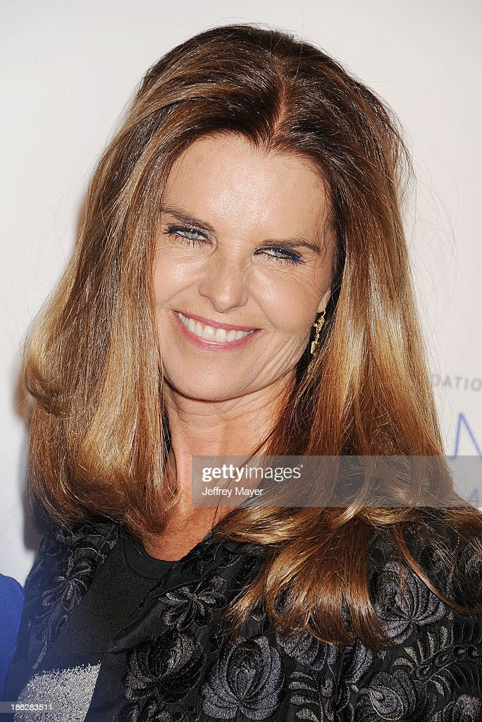 Broadcast journalist Maria Shriver arrives at the 2013 International Women's Media Foundation's Courage In Journalism Awards at The Beverly Hills...