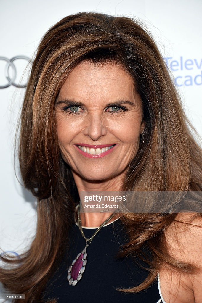 Broadcast journalist Maria Shriver arrives at the 8th Annual Television Academy Honors at the Montage Beverly Hills on May 27 2015 in Beverly Hills...