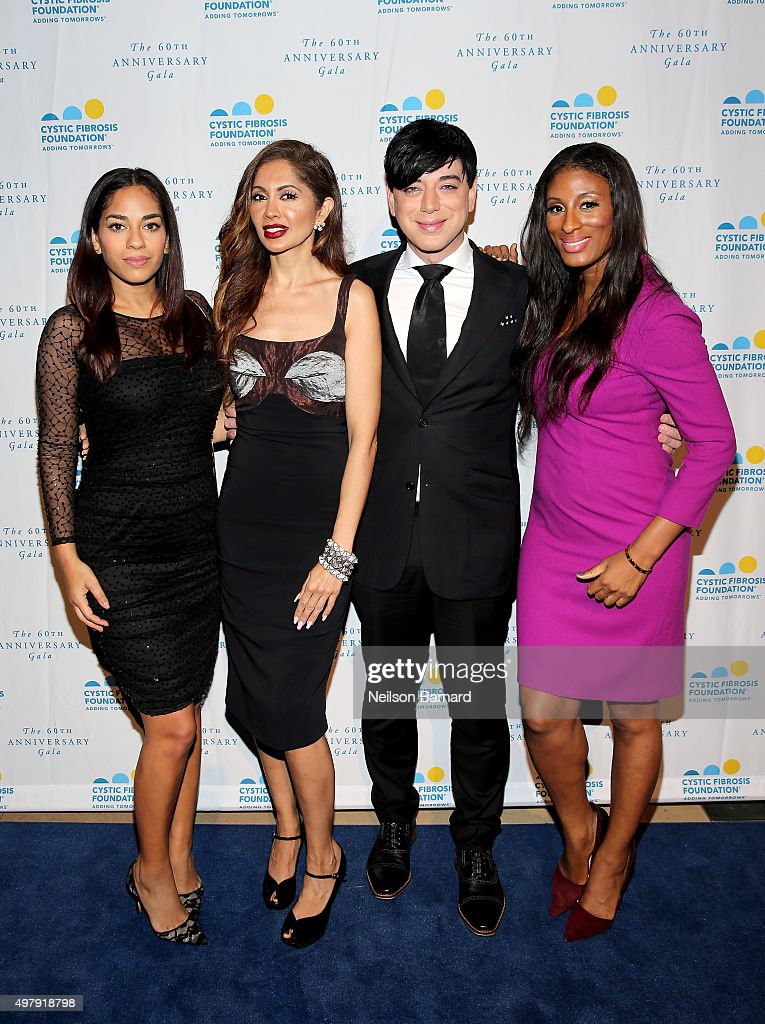 Broadcast journalist Sharon Carpenter Dr Tabasum Mir Designer Malan Breton and Chantelle Fraser of Blood Sweat and Heels attend the Cystic Fibrosis...