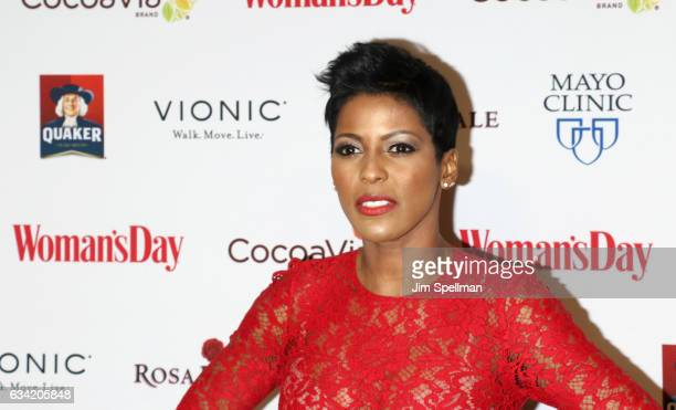 Broadcast journalist Tamron Hall attends the 14th annual Woman's Day Red Dress Awards at Jazz at Lincoln Center on February 7 2017 in New York City