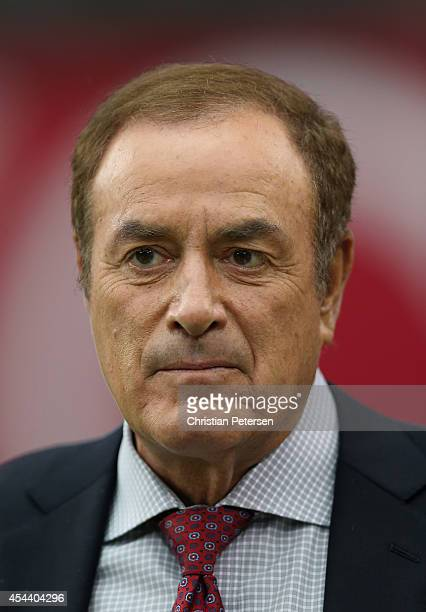 NBC broadcaster Al Michaels during the preseason NFL game between the Arizona Cardinals and the Cincinnati Bengals at the University of Phoenix...