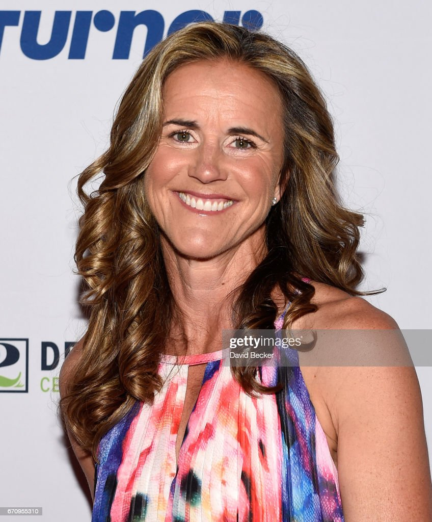 Broadcaster and former soccer player Brandi Chastain attends the 2017 Derek Jeter Celebrity Invitational gala at the Aria Resort & Casino on April 20, 2017 in Las Vegas, Nevada.