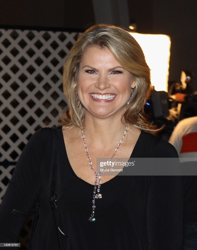 Broadcaster Christine Simpson walks the red carpet prior to the 2011 Hockey Hall of Fame Induction ceremony at the Hockey Hall Of Fame on November 14, 2011 in Toronto, Ontario, Canada.
