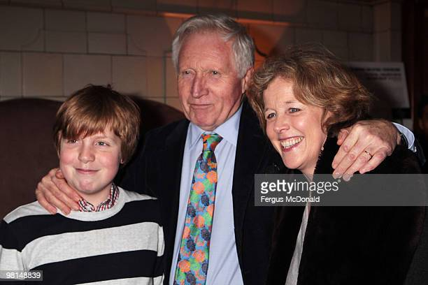 Broadcaster David Dimbleby arrives at a VIP screening of The Ghost held at The Courthouse Hotel on March 30 2010 in London England