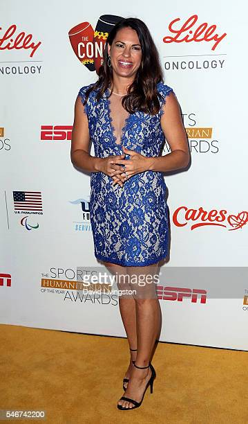 Broadcaster Jessica Mendoza attends the 2nd Annual Sports Humanitarian of the Year Awards at the Conga Room on July 12 2016 in Los Angeles California