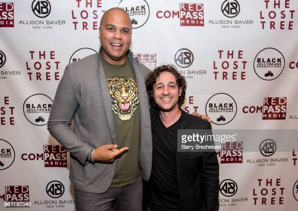 Broadcaster Jordan Cornette and actor Thomas Ian Nicholas during the 'The Lost Tree' Chicago Premiere at Music Box Theatre on October 13 2017 in...