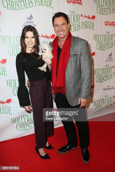 Broadcaster Mark Steines and Julie Freyermuth arrive at the 85th Annual Hollywood Christmas Parade on November 27 2016 in Hollywood California
