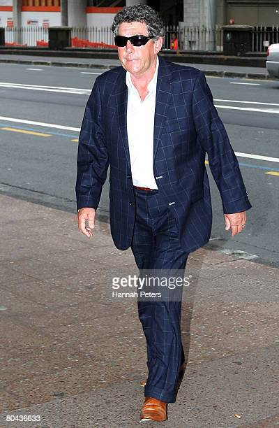 Broadcaster Paul Holmes arrives to support his adopted daughter Millie Elder at the Auckland District Court March 31 2008 in Auckland New Zealand...