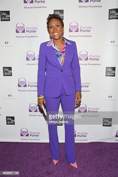 Broadcaster Robin Roberts attends the Limited Edition Allstate Foundation Purple Purse Launch at The Plaza Hotel on September 24 2015 in New York City
