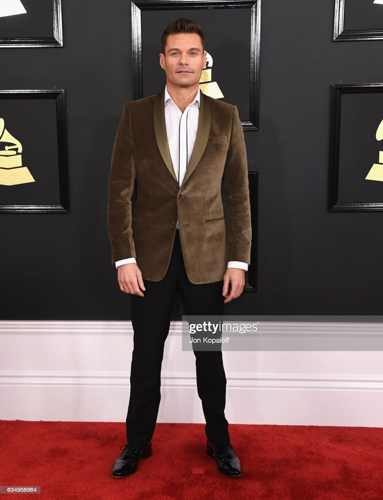 broadcaster-ryan-seacrest-attends-the-59th-grammy-awards-at-staples-picture-id634958964