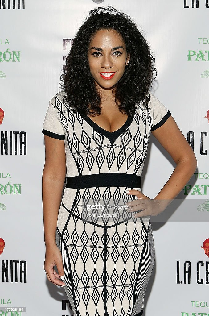 Broadcaster Sharon Carpenter attends Republic Records MTV VMA Viewing After Party at La Cenita on August 25 2013 in New York City