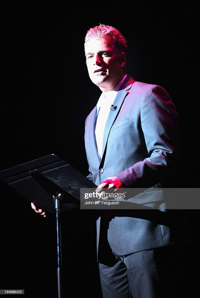 Broadcaster Steve Adubato attends a benefit for the Montclair Film Festival at The Wellmont Theatre on December 2 2011 in Montclair New Jersey