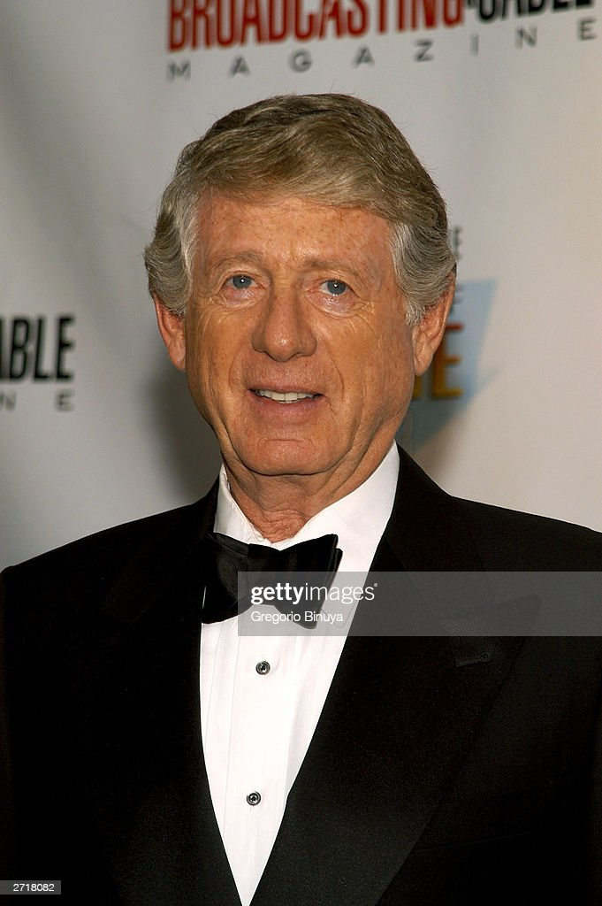 Broadcaster Ted Koppel attends the 13th Annual Broadcasting & Cable Magazine Hall of Fame on November 10, 2003, in New York. Koppel is a new inductee to the Hall Of Fame.