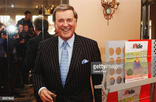 Broadcaster Terry Wogan poses at The Oldie Of The Year Awards held at Simpsons In The Strand March 2 2004 in London Set up by former Private Eye...