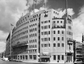 Broadcasting House Portland Place London August 1961