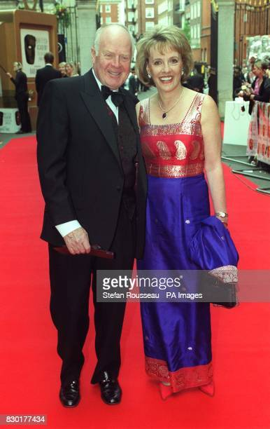 Broadcasting husband and wife team Desmond Wilcox and Esther Rantzen arriving at the British Academy Television Awards at Grosvenor House in London...