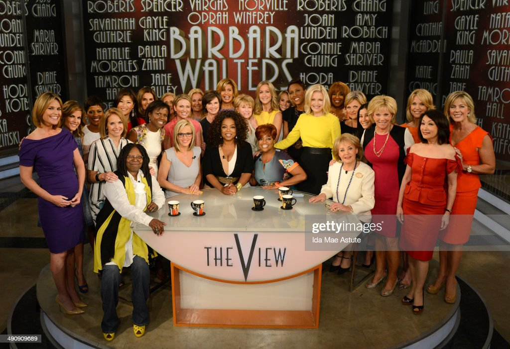 THE VIEW - Broadcasting legend Barbara Walters says goodbye to daily television with her final co-host appearance on THE VIEW, airing FRIDAY, MAY 16 (11am-12noon, ET) on the ABC Television Network. A surprise appearance from Oprah Winfrey leads to one historic, monumental television event when Winfrey does a landmark roll call of introducing 25 incredible female journalists who were influenced by Barbara Walters.