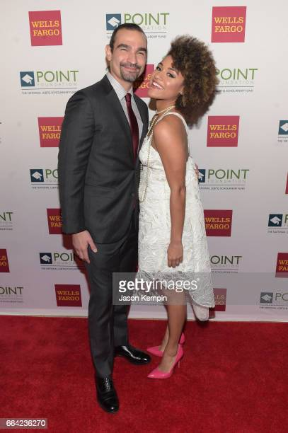Broadway actor Javier Munoz and actress Ariana DeBose attend the Point Honors Gala at The Plaza Hotel on April 3 2017 in New York City