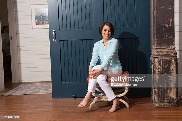 Broadway actress Judy Kuhn is photographed for New York Post on May 8 2013 in New York City PUBLISHED IMAGE