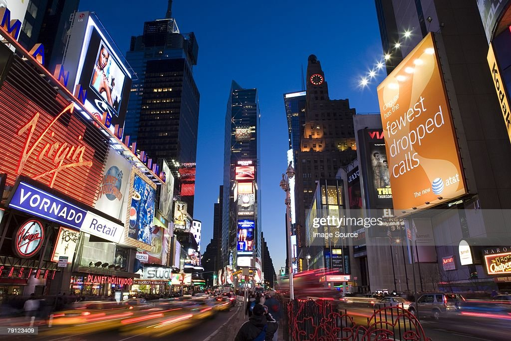 Broadway and times square new york : Stock Photo