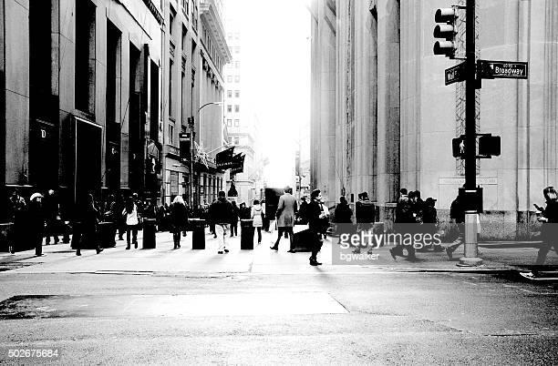 Broadway et du quartier des finances de Wall Street, à New York