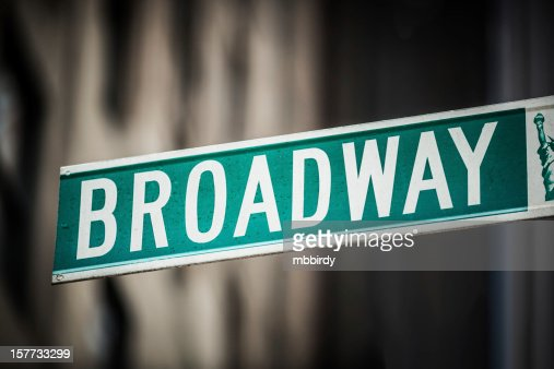 Broadway avenue sign, New York City, USA