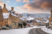 The Cotswold village of Broadway, Worcestershire, England.