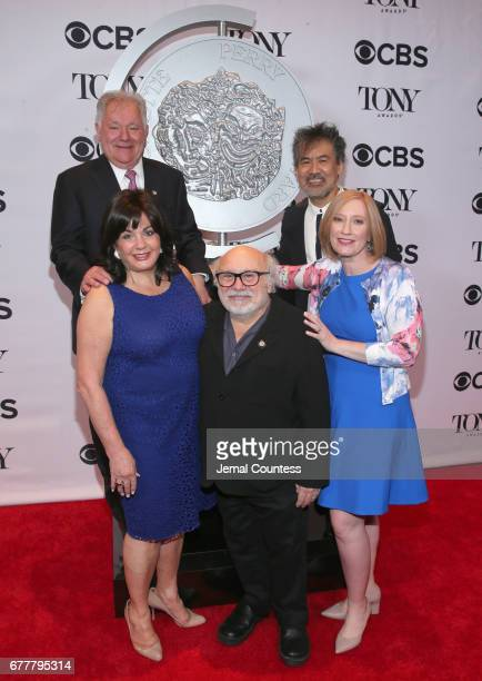 Broadway League Chairman Robert Wankel Broadway League President Charlotte St Martin Danny DeVito American Theatre Wing Chair David Henry Hwang and...