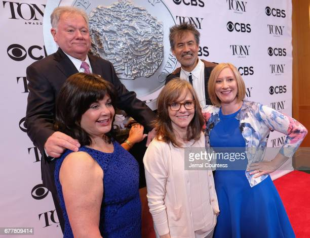Broadway League Chairman Robert Wankel Broadway League President Charlotte St Martin Sally Field American Theatre Wing Chair David Henry Hwang and...
