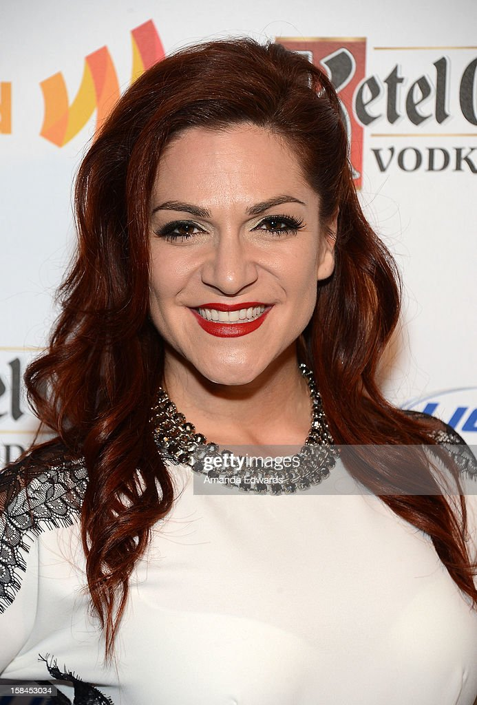 Broadway performer Shoshana Bean arrives at the GLAAD Tidings Annual Holiday Celebration at The London Hotel on December 16, 2012 in West Hollywood, California.