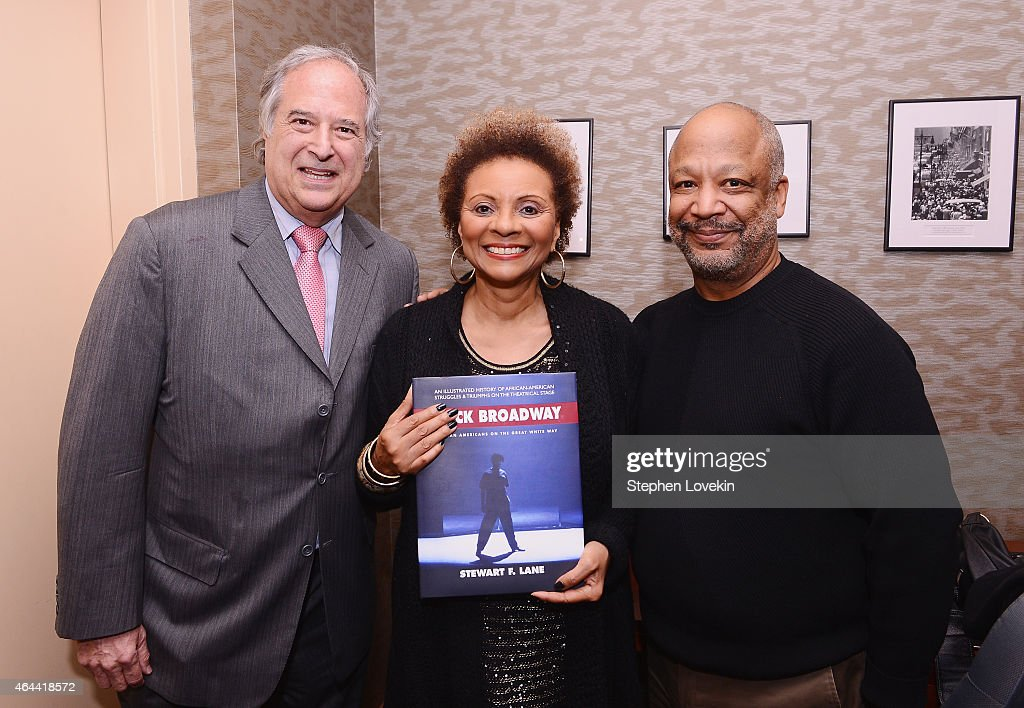 Broadway producer Stewart Lane actress Leslie Uggams and theatre/TV director Sheldon Epps attend a special event celebrating the release of the new...