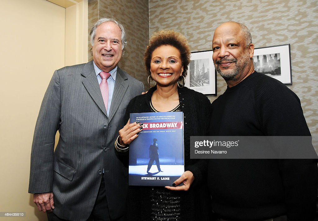 Broadway producer Stewart Lane actress Leslie Uggams and TV/ theatre director Sheldon Epps attend Black History Month In Conversation With Stewart...