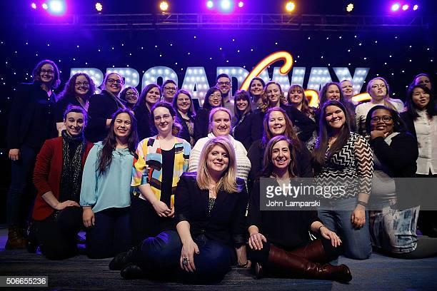 BroadwayCon staff attend BroadwayCon 2016 finale at Hilton Midtown on January 24 2016 in New York City
