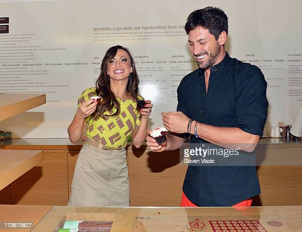 Broadway's 'Forever Tango' and ABC's 'Dancing with the Stars' Karina Smirnoff and Maksim Chmerkovskiy attend 'Forever Tango' cupcake unveiling at...