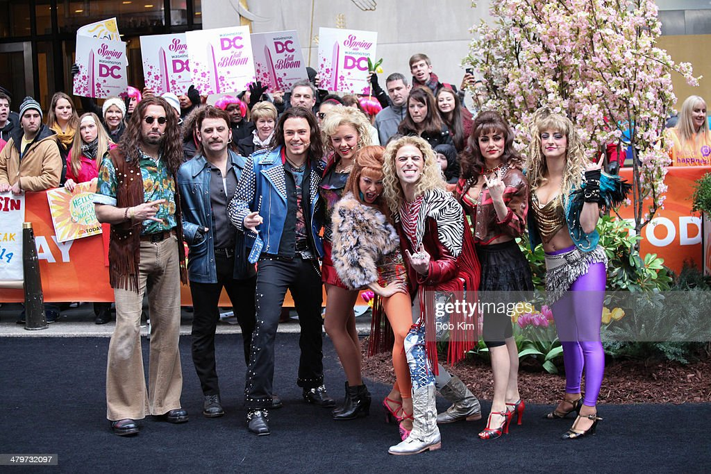 Broadway's 'Rock Of Ages' performs on NBC's 'Today' at Rockefeller Plaza on March 20 2014 in New York City