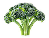 Broccoli. Fresh broccoli isolated on white. Full depth of field.