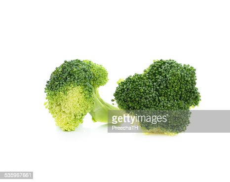 Broccoli isolated on white background : Stock Photo