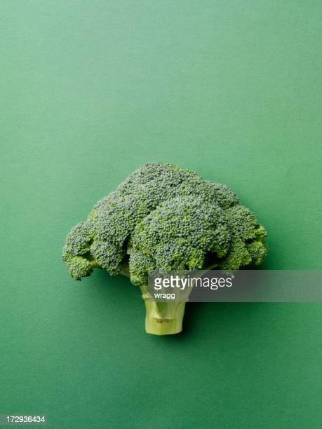 Broccoli on a Green Background