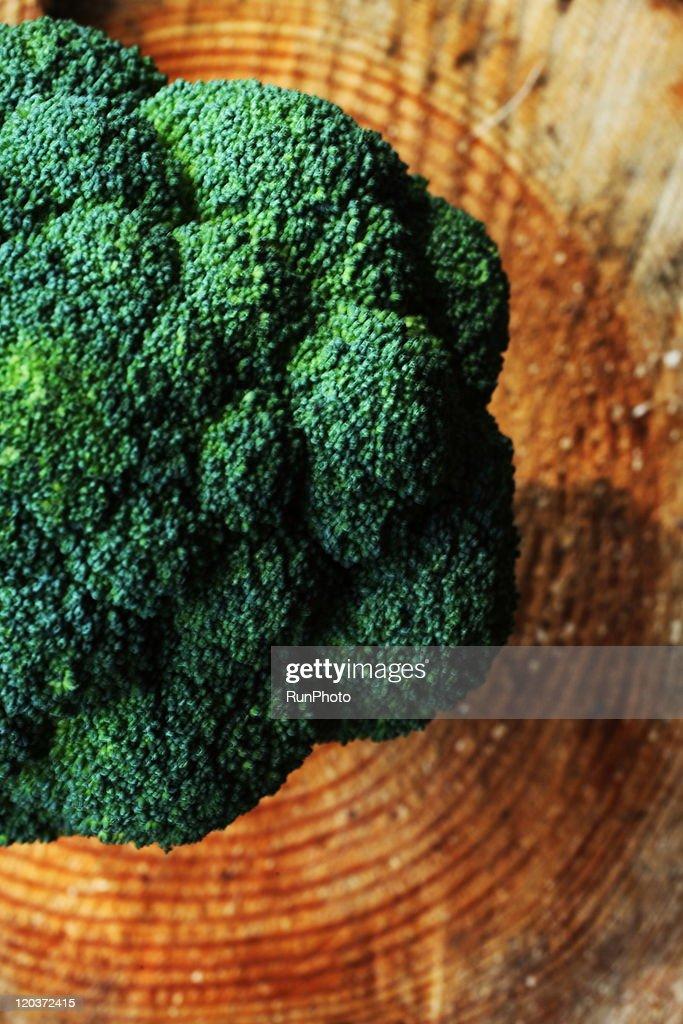 broccoli on growth ring : Stock Photo