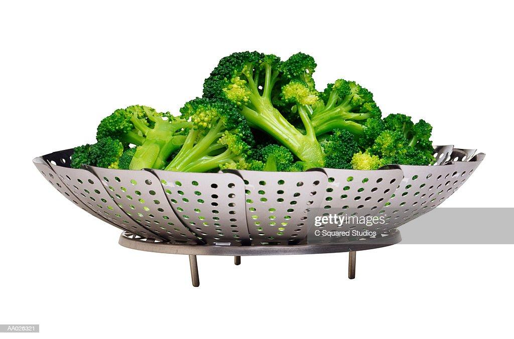 Broccoli on Metal Steamer