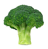 Fresh broccoli isolated on white background.